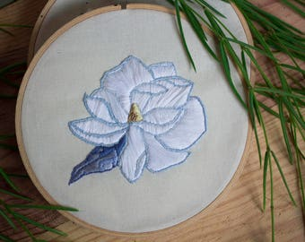 Floral embroidery, magnolia.
