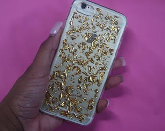 Gold Flakes for iPhone 6,iPhone 6s, iPhone 7