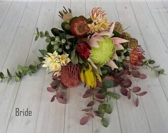 Bohemian Bridal Bouquet and Bridesmaid. All premium native artificial flowers