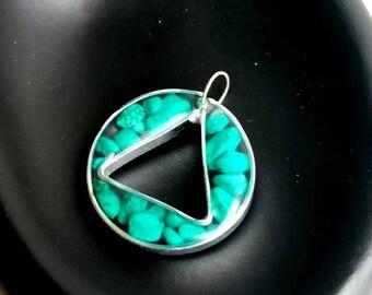 Turquoise Magnesite Triangle