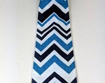 Blue Chevron boys neckties