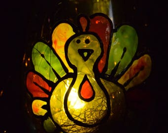 Hand-Painted Wine Glass - Candleholder (Turkey)