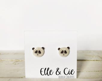 Panda, Panda Earrings earrings