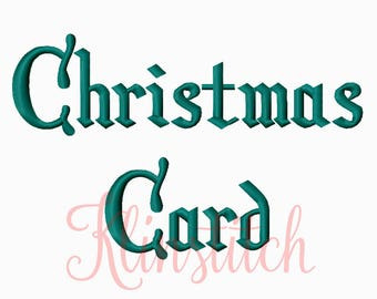 50% Sale!! Christmas Card Embroidery Fonts 6 Sizes Fonts BX Fonts Embroidery Designs PES Fonts Alphabets - Instant Download