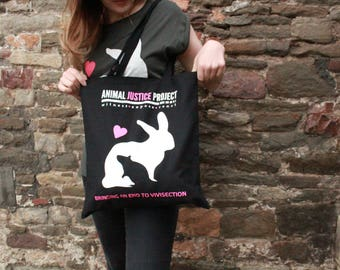 Animal Justice Project - Campus without Cruelty Tote Bag