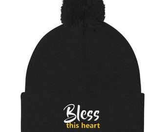 Bless this heart Pom Pom Knit Cap