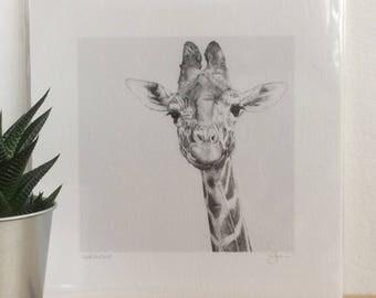 Giraffe Print Giclee Special Edition- 'Gerauldine'
