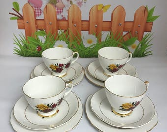 Vintage China Tea Bone China Dorchester Trios