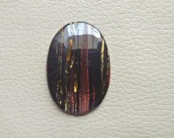 Natural Iron Tiger Eye Gemstone 79 Carat Oval Shape Gemstone, Loose Healing Crystals Cabochon Gemstone, Iron Tiger Eye Jewelry Gemstones.