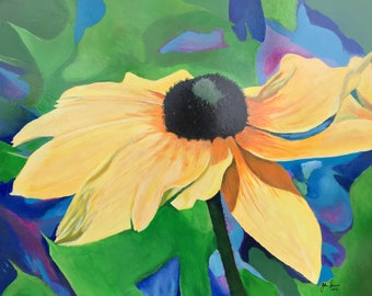Black-Eyed Susan Original Acrylic Painting