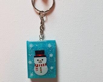 Christmas Key Ring Snowman Xmas