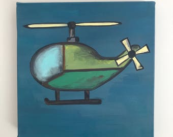 12x12 Helicopter Painting