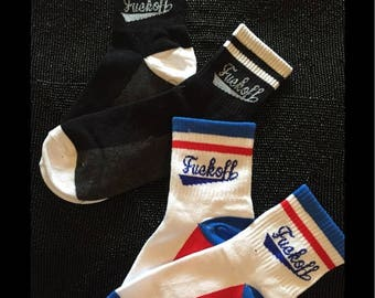 Emporiama, Say What!?! Socks, Black, Gray & White, Unisex, New With Tags