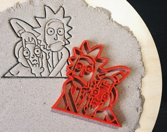 Rick and Morty Cookie Cutter