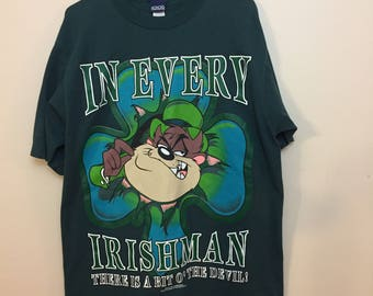 Vintage Looney Tunes Irish Taz T-shirt