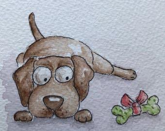 "6"" X 6"" Caricature portrait of your own pet!"