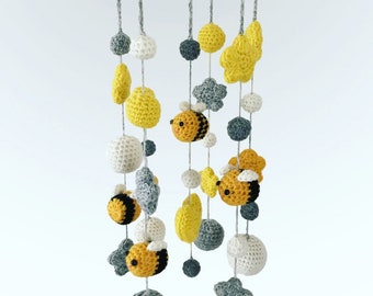 Baby Mobile/Nursery Mobile/Nursery Decoration/Newborn Gift/Yellow Grey Mobile/Baby Shower Gift
