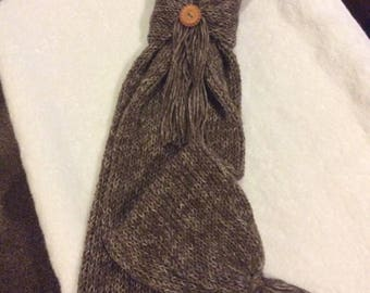 Knitted Scarf and Scarf Ring.