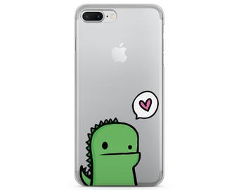 dinosaur iPhone case kawaii iPhone 8 case little dinosaur phone case 6s cute dinosaurs clear iPhone x case dinosaur lover gift iPhone5c case