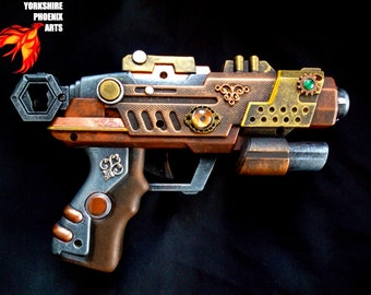 STEAMPUNK customised Nerf type gun / fully working / metallic colours / display or cosplay