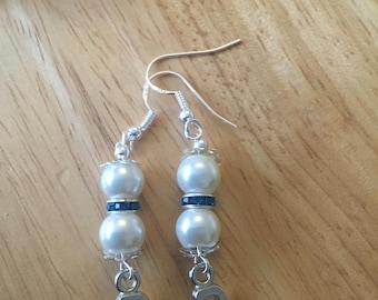 Letter p earrings
