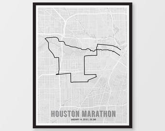 Houston marathon Etsy
