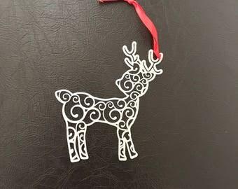 Set of 6 Reindeer Christmas Ornaments