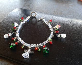 Christmas, bracelet,beads