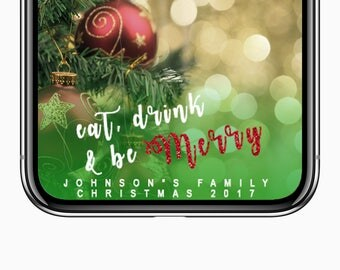 Christmas Snapchat Xmas Filter Holiday Party Snapchat Geofilter Christmas Eve Christmas party Custom Location customized custom personalize