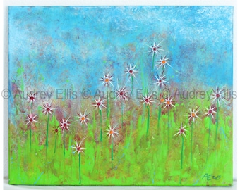 Hand Painted Original Acrylic Painting, Acrylics on Canvas, No. 36