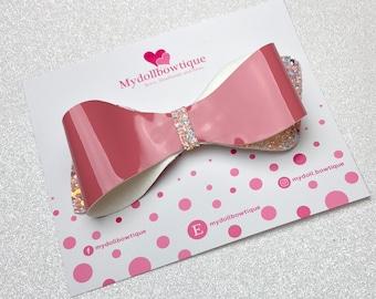Hair bow, hair accessories, glitter bows, shiny bows