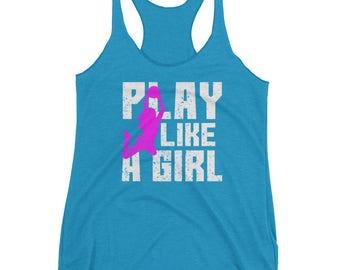 Play Like A Girl Basketball Tank Top - Basketball Gift, Basketball Mom Tank Top, Basketball Tank Top for Sisters, Teen Girl Basketball
