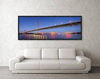 Forth Bridge Print / Forth Bridges at Night / Forth Railway Bridge / Forth Bridges / Firth of Forth / South Queensferry / Edinburgh