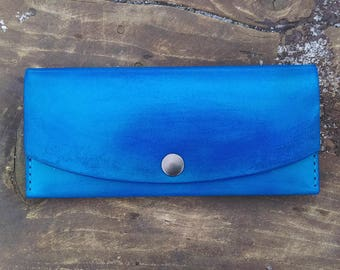 leather wallet woman handmade wallet womens long wallet vegetable tanned leather