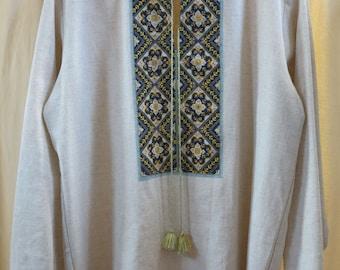 Men's shirt Ukrainian vyshyvanka Ukrainian hand embroidery Embroidered shirt Ukrainian clothing SALE ONLY HANDMADE! New year discounts!