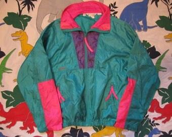 Vintage 90's Columbia Sportswear Colorblock Windbreaker, Intertrainer Jacket