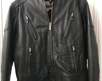 Mint Men's Vintage 1980's Leather Motorcycle jacket from Wilson's