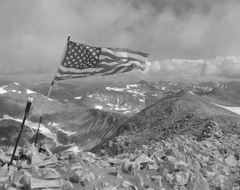 Stormy summit of Mt. Sherman