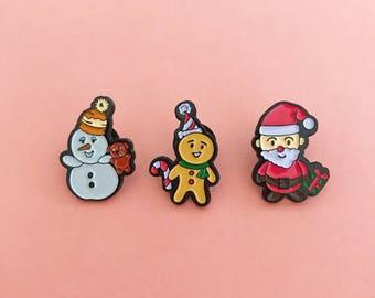 Christmas Enamel Pins Set
