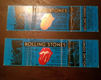 UNUSED - Rolling Stones Concert Tickets (2x) - 1981 Tangerine Bowl - Fair Condition