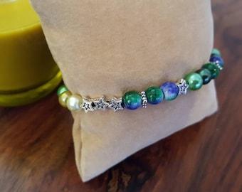Cosmic Stars Beaded Bracelet