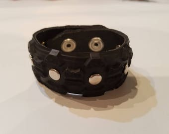 Recycled tire bracelet
