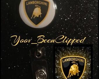 Lamborghini Retractable Badge Clip