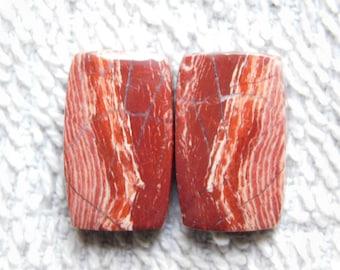 Pair ! Snakeskin jasper Cabochons 100%Natural Snakeskin jasper Matching Pair Gemstone Snakeskin jasper Loose stone 18.15cts.(27x11x3)mm