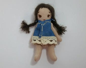 Handmade doll, Mexican style & chic boho