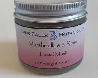 Marshmallow and Rose Herbal Clay Facial Mask and Cleanser
