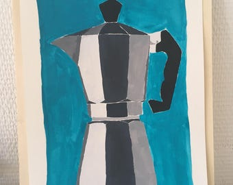 Painting of espresso maker