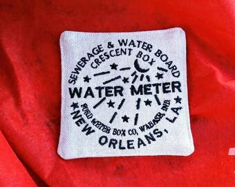 Embroidered New Orleans Water Meter Coasters