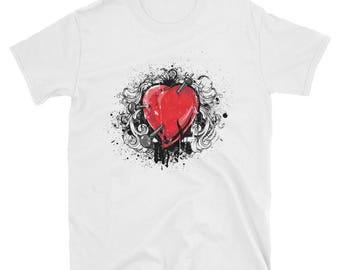 Pierced Heart - short sleeve unisex t-shirt