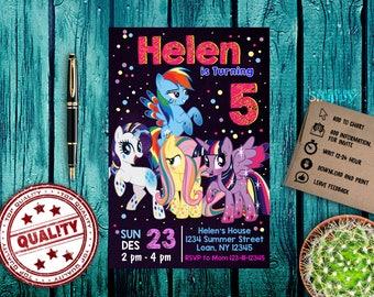little pony, little pony invitations,little pony birthday,little pony party,little pony invite,little pony printable, custome invitation